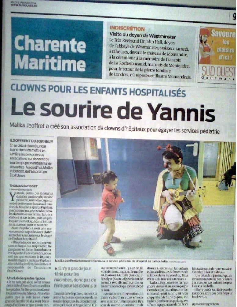 clowns pour enfants hospitalisés 2014so janv